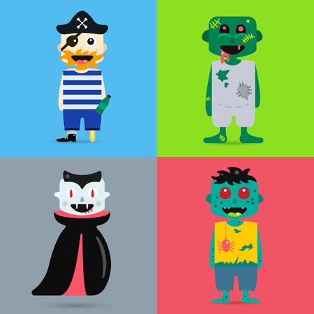 brujas caricatura: Personajes de dibujos animados monstruo aislado silueta