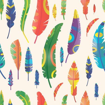 feather: Feathers seamless pattern Illustration
