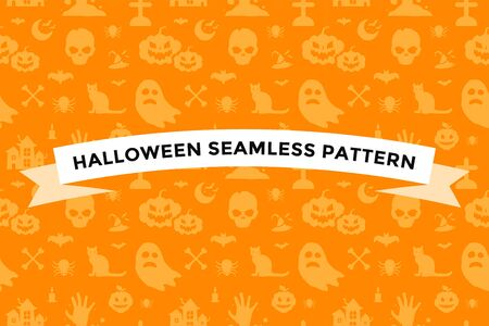 halloween: Halloween background seamless pattern