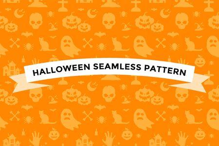 Halloween background seamless pattern