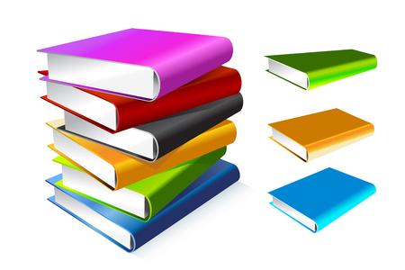 literatura: Libro 3d aislado en blanco Vectores