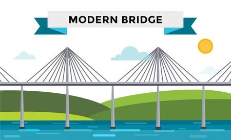 moderne br�cke: Moderne Br�cke Illustration Illustration