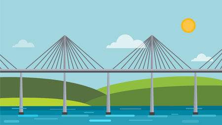 viaduct: Modern bridge illustration Illustration