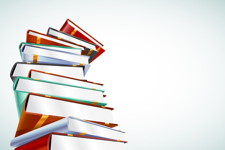 Illustrazione di vettore del libro 3d isolata su bianco. Di nuovo a scuola. Istruzione, università, simbolo o conoscenza dell'università, pila di libri, pubblicazione, carta della pagina dei libri. Pila di libri. Libri isolati. Vettore di libri