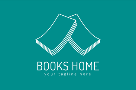 open book icon: Books house vector . Books icons.  Illustration