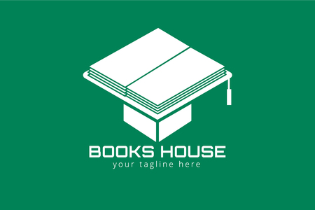 book reader: Books hat vector . Books icons.