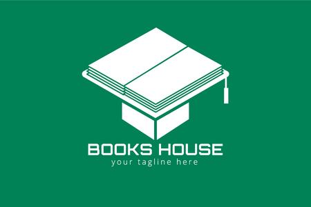 libros: Libros vectorial sombrero. Libros iconos. Vectores