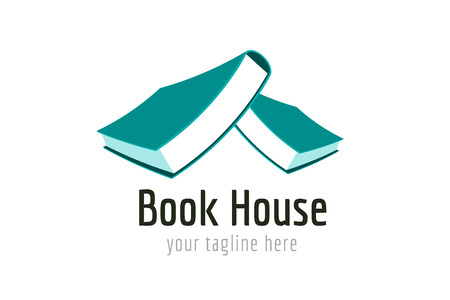 library book: Books house vector . Books icons.  Illustration