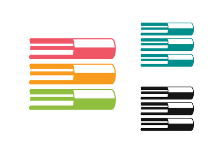 book design: Books vector . Books icons.  Illustration