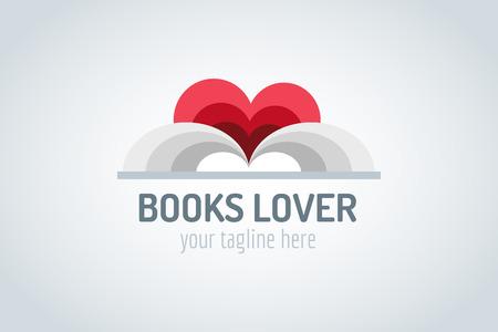 Boeken hart vector