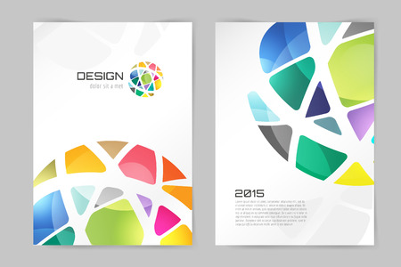 Abstract brochure or flyer design template. Book design, blank, print design, journal. Brochure vector. Brochure template. Flyer design. Flyer template. Brochure abstract design. Brochure background Imagens - 47067635