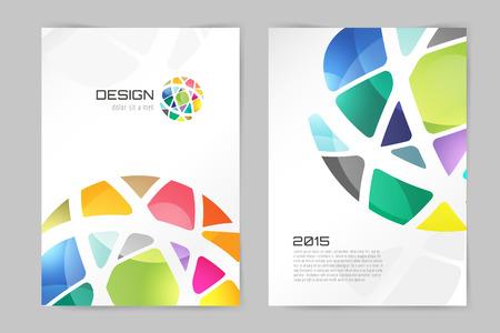 abstrait: Résumé brochure ou un modèle de conception flyer. La conception du livre, vide, la conception d'impression, le journal. Brochure vecteur. Modèle brochure. Conception Flyer. Modèle Flyer. Brochure conception abstraite. Brochure fond