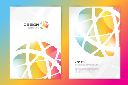 Abstract brochure or flyer design template. Book design, blank, print design, journal. Brochure vector. Brochure template. Flyer design. Flyer template. Brochure abstract design. Brochure background  イラスト・ベクター素材