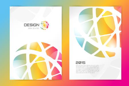 Abstract brochure or flyer design template. Book design, blank, print design, journal. Brochure vector. Brochure template. Flyer design. Flyer template. Brochure abstract design. Brochure background Vettoriali
