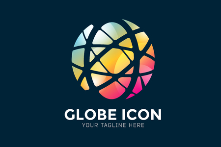 figure logo: Vector abstract earth globe  design.  Illustration