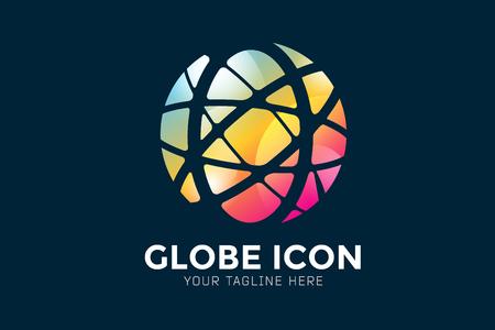 Vector abstract earth globe  design.  Stock Illustratie
