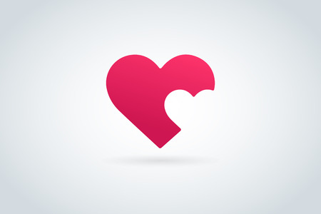 heart wings: Heart icon vector  Illustration