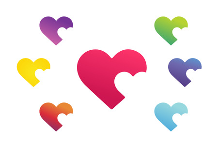 heart shape: Heart icon vector  Illustration