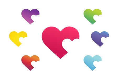 hearts: Heart icon vector  Illustration