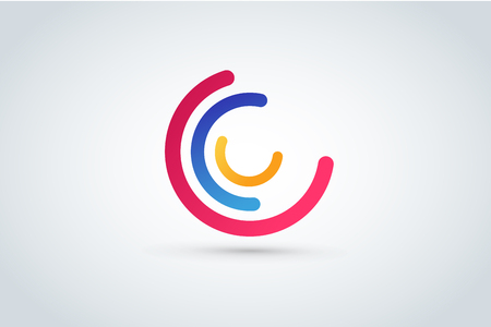 C letter vector. Illustration