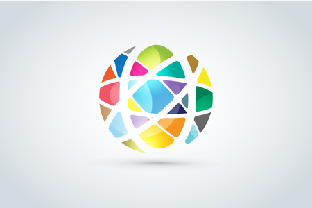 looped: Vector abstract earth globe  design.  Illustration