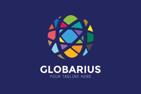 wereldbol: Vector abstracte aarde wereld ontwerp. Stock Illustratie