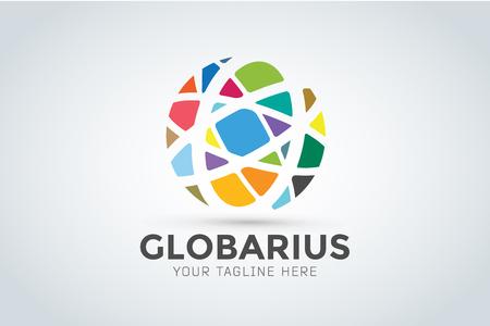 Vector abstract earth globe  design.  Vectores