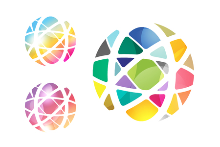 bola del mundo: Resumen de vectores de globo terr�queo de dise�o.