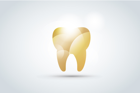 smile teeth: Tooth Icon vector  template.  Illustration