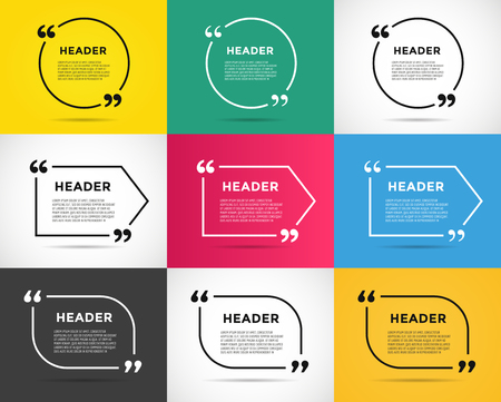 circle design: Website review quote citate blank template. Website review vector icon. Quote comment template. Quote bubble. Shop customer review template. Circle review template, paper sheet, information, text. Customers review design. Quote form. Web site comment vect
