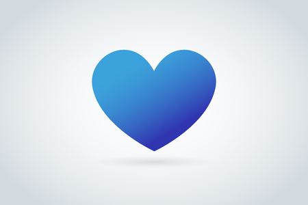 blue icon: Heart icon vector logo. Heart logo, heart shape. Togetherness concept. Together logo. Heart logo. Heart icon. Love, health or doctor and relations symbol. Heart vector logo, heart together icon logo Illustration