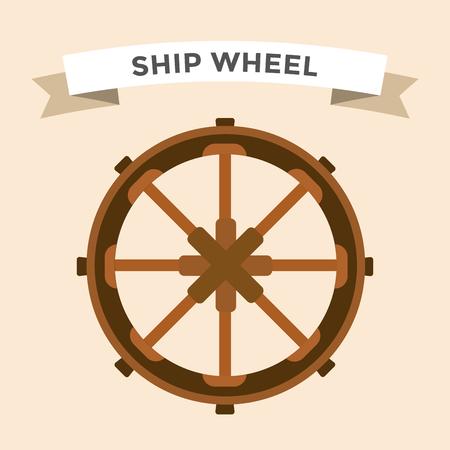 timon barco: Vector iconos timón planos establecidos. Ilustración de la rueda del timón. Iconos timón vector de control de la rueda del barco establecen. Timones, los barcos, se, rueda, redondo, de control, de yates, cruceros. Icono del timón. Iconos ruedas. Timón y rueda aislada
