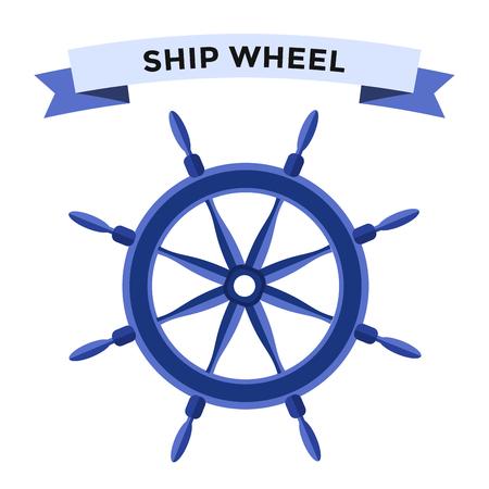 Vector roer vlakke pictogrammen instellen. Roer wiel illustratie. Boot wiel controle roer vector iconen set. Roeren, schepen, se, wiel, ronde, controle, jacht, cruise. Rudder icoon. Wiel pictogrammen. Roer en wiel geïsoleerde