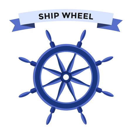 Vector rudder flat icons set. Rudder wheel illustration. Boat wheel control rudder vector icons set. Rudders, ships, se, wheel, round, control, yacht, cruise. Rudder icon. Wheel icons. Rudder and wheel isolated Banco de Imagens - 47744644