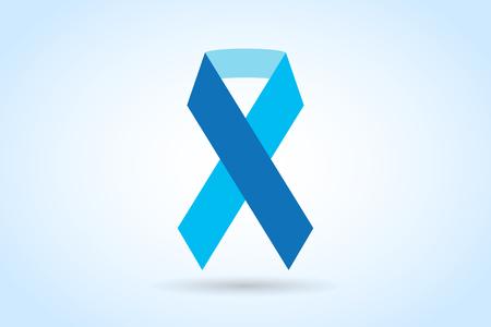 rak: Przestań medycznych raka taśmą logo ikony koncepcji. Wstążka Rak, symbol świadomości raka piersi, odizolowane na tle. Ilustracji wektorowych z wstążką raka raka logo ikony ludzi i raka symbolu. Przychodnie lekarskie koncepcja