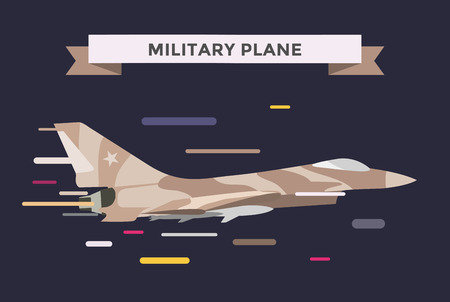 air war: War military plane vector illustration. War airplane sky force fighter vector silhouette. War plane isolated flying on background. War military airplane vector isolated left view