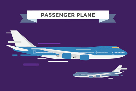 civil: Civil aviation travel passanger air plane vector illustration. Civil commercial airplane flying vector silhouette. Travel plane isolated on background. Cargo transportation airplane vector isolated