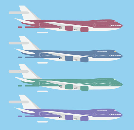passanger: Civil aviation travel passanger air plane vector illustration. Civil commercial airplane flying vector silhouette. Travel plane isolated on background. Cargo transportation airplane vector isolated