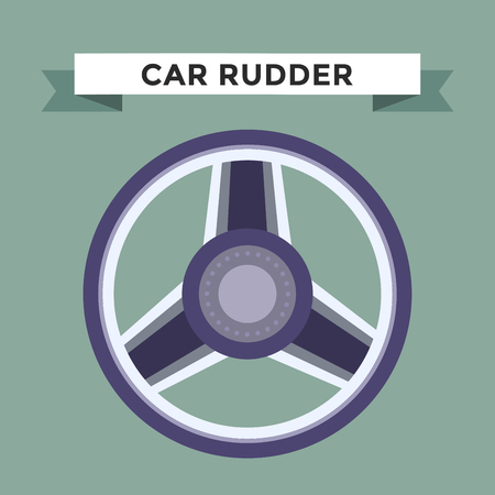 car wheel: Vector rudder flat icon. Rudder wheel illustration. Car wheel control rudder vector icon. Rudders cars, wheel, round, control, track, sport. Rudder icon. Wheel icon. Rudder and wheel isolated Illustration