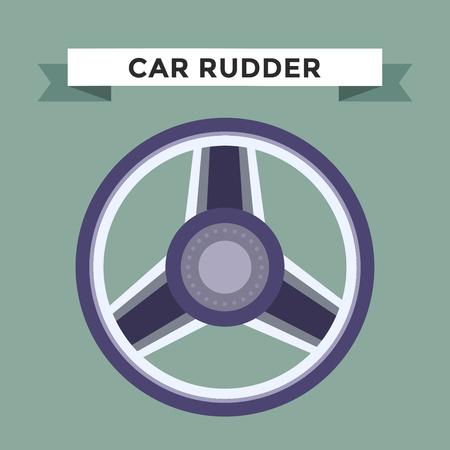 wheel: Vector rudder flat icon. Rudder wheel illustration. Car wheel control rudder vector icon. Rudders cars, wheel, round, control, track, sport. Rudder icon. Wheel icon. Rudder and wheel isolated Illustration