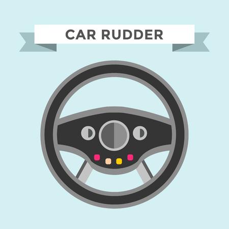 car wheel: Vector tim�n icono plana. Ilustraci�n de la rueda del tim�n. Control de la rueda del coche icono de tim�n vector. Timones coches, rueda, redondo, de control, de la pista, el deporte. Icono del tim�n. Icono de la rueda. Tim�n y rueda aislada