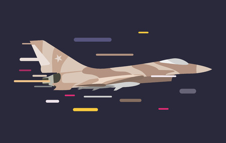 air war: War military plane vector illustration. War airplane sky force fighter vector silhouette. War plane isolated flying on background. War military airplane vector isolated left view. Military airplane