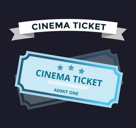 biglietto: biglietti del cinema vettore su priorità bassa. biglietti del cinema simbolo. biglietti vettore isolato. Biglietti per il cinema, biglietti del cinema, biglietti per spettacoli illustrazione vettoriale