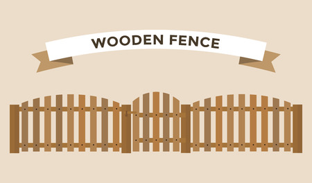 white picket fence: Wooden fence isolated on background. Garden fences vector illustration. Fences railing vector isolated. Wooden fence, long fence, vector fence. Wooden fence silhouette construction isolated