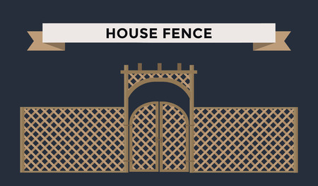 long night: Metallic fence isolated on night background. Fences vector illustration. Fences railing vector isolated. Metall fence, long fence, vector fence. Fence silhouette construction isolated