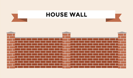 castle wall: Stone bricks fence isolated on white background. Castle house wall stone fence vector illustration. Castle wall railing vector isolated. Stone bricks fence, home fence, vector fence. House fence