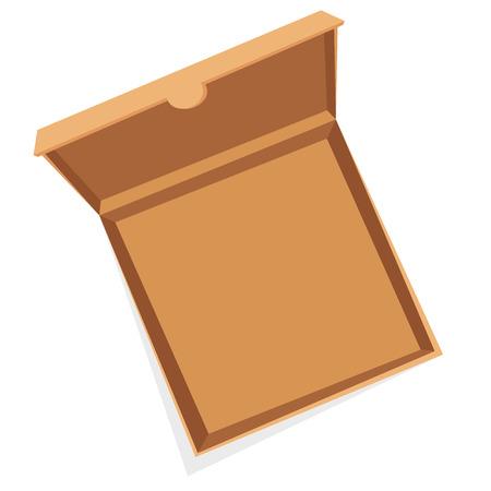 caja de pizza: Abrir la pizza ilustraci�n vectorial cuadro.
