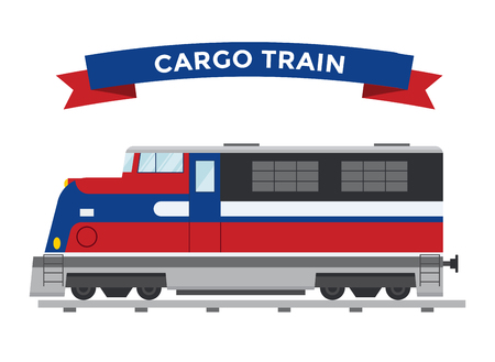diesel train: Cargo transportation train vector. Trains vector illustration on white background. Transportation cargo train railway silhouette. Cargo trains vector railway. Diesel train main head Illustration