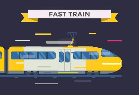 Pasajeros y trenes de transporte de recogida de vectores. Trenes ilustración vectorial sobre fondo blanco. Trenes silueta aislados en blanco. Pasajeros y carga trenes vector en ferrocarril. Tren Viajes