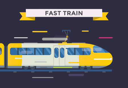 high speed train: Passenger and transportation trains vector collection. Trains vector illustration on white background. Trains silhouette isolated on white. Passenger and cargo trains vector on railway. Travel train
